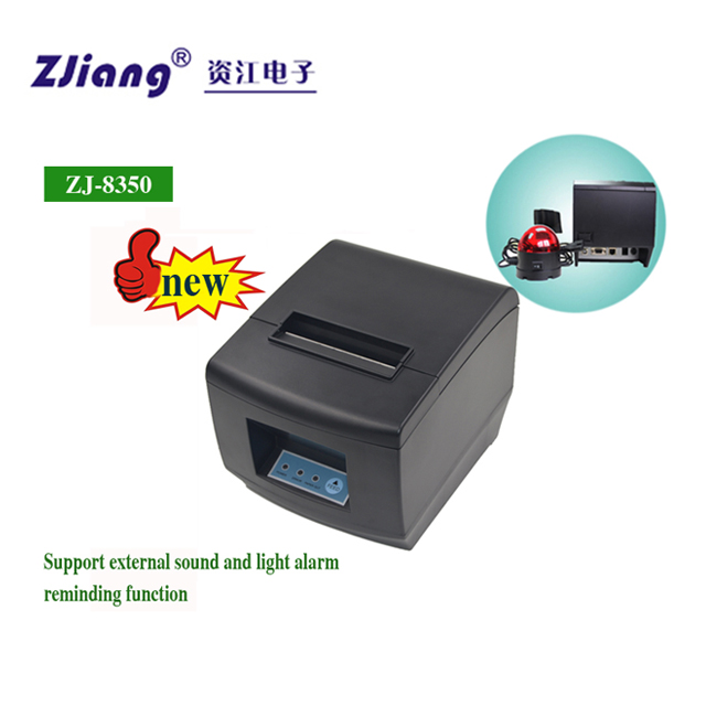 Direct Thermal Printing Desktop QR Code Thermal Printer with Auto Cutter ZJ 8350