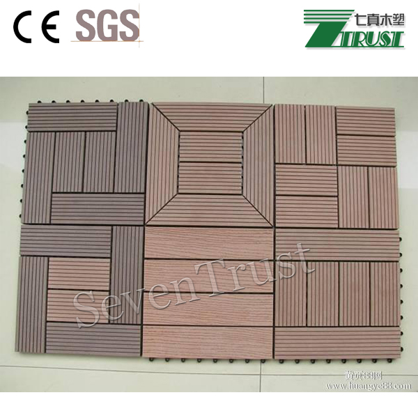 Recycled material waterproof WPC DIY decking for sale