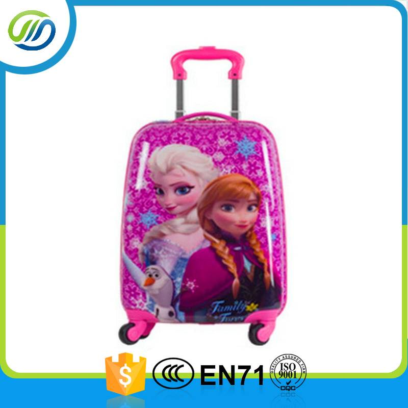 Colorful luggage 4 wheels customized ABS PC travel bag