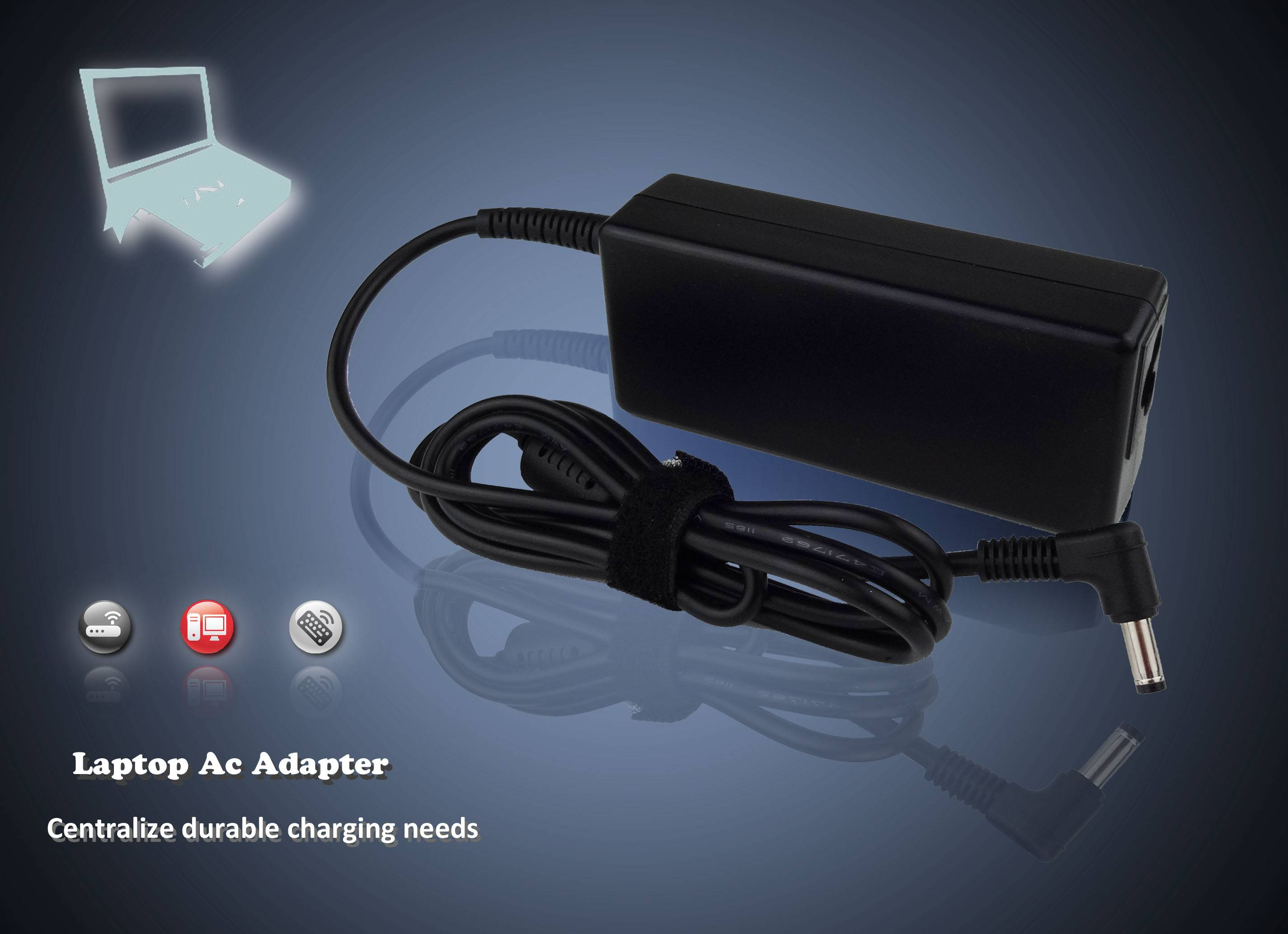 Laptop adapter for hp 18.5v3.5a