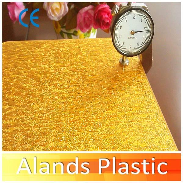 Golden Color Fabric Acrylic Sheet