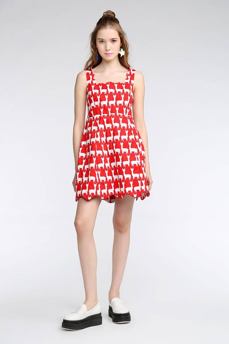 Made in China all types of ladies dresses sleeveless printing designer replica dresses latest fashio