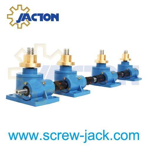 10 ton Machine Screw Jacks Lifting Screw Diameter 58MM Pitch 12MM Ratio 8:1 24:1 Custom Lift Height