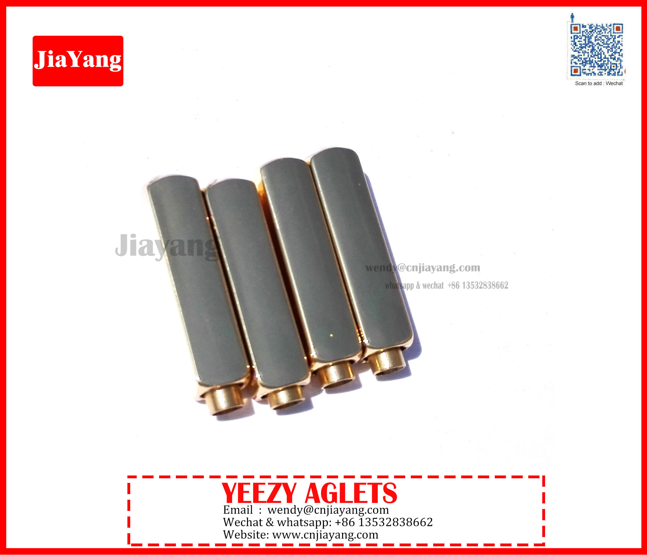 smooth and high quality polished shiny gold air yeezy aglet for shoes