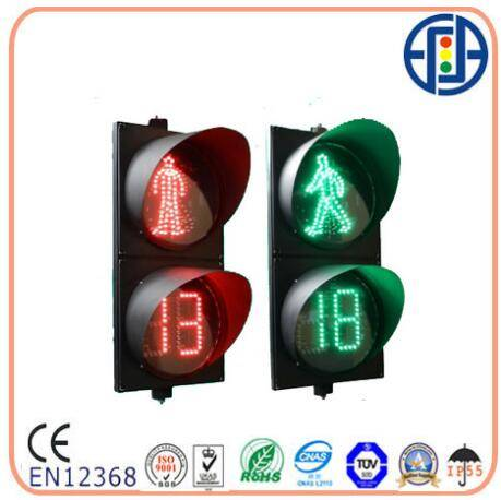 LED Pedestrian Light with 2 Digits Red Green Countdown Timer