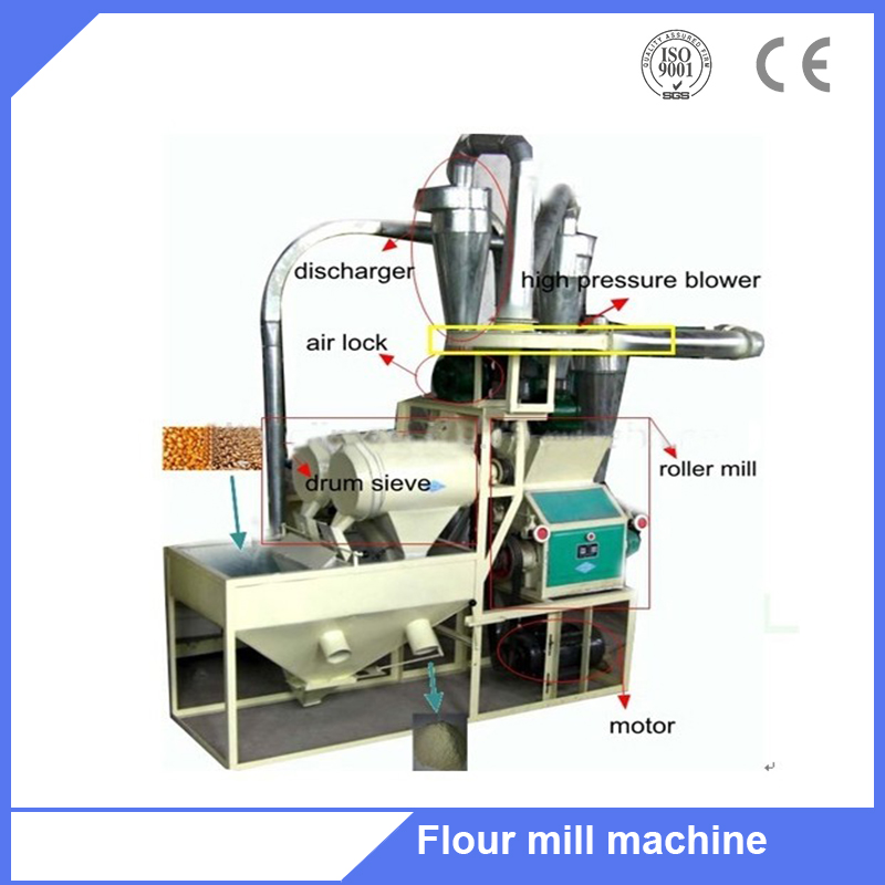 Factory supply 6F2240 small grain processing machine for small factory