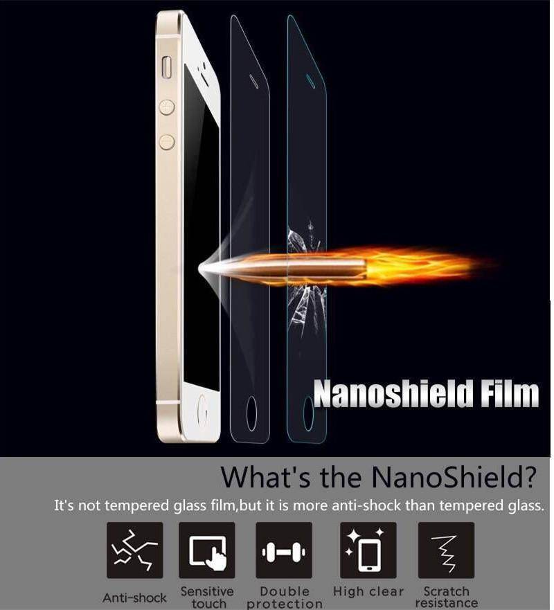 Nanoshield Film Explosion Proof Clear Nano Shield Screen Protector For iphone 5 5S 6 Plus Samsung Ga