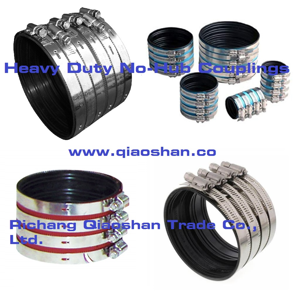 Stainless Steel Heavy Duty No-Hub Coupling for No Hub Pipe and Drain products Connection