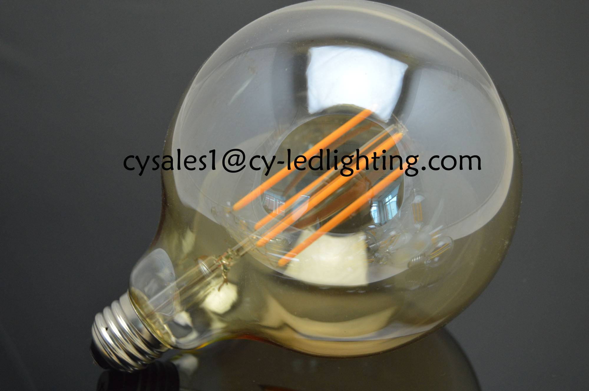 G125 big global long filament led bulb E27 6W with CE RoHs