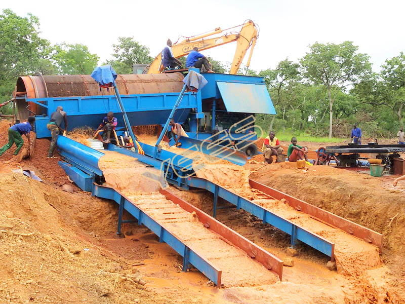 Gold Mining Trommel Wash Plant, Mobile Gold Processing Plant for Sale