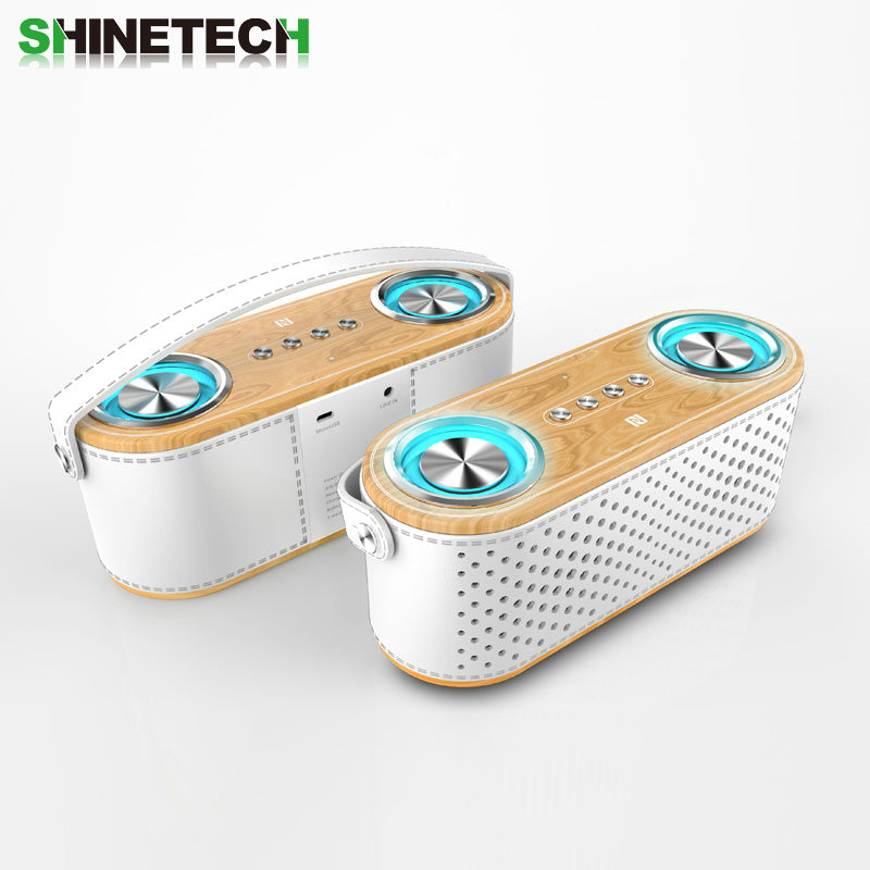 Portable Bluetooth Speaker with huge&clear Sound/Mega Bass, LED breathing light and Handle