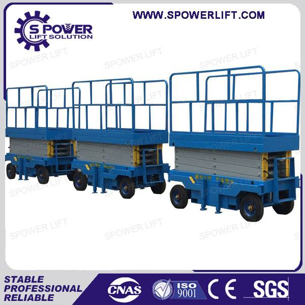 Chin 9M trilling hydraulic scissor lifting platform