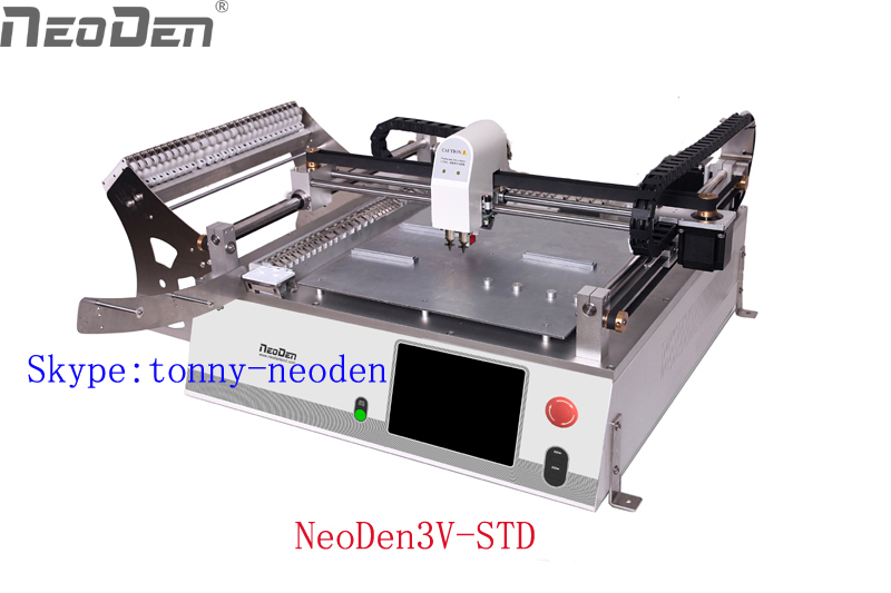 Newest Pick and Place machine NeoDen3V with cameras/vision of SMT Production Line