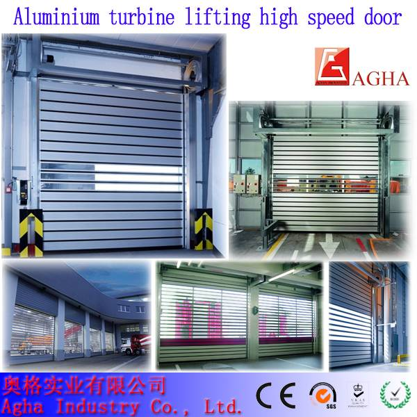 Rapid aluminium turbine lifting door, fast door, swift door, high speed door