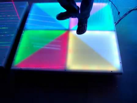 DMX RGB dance floor 11m floor sound control dance floor
