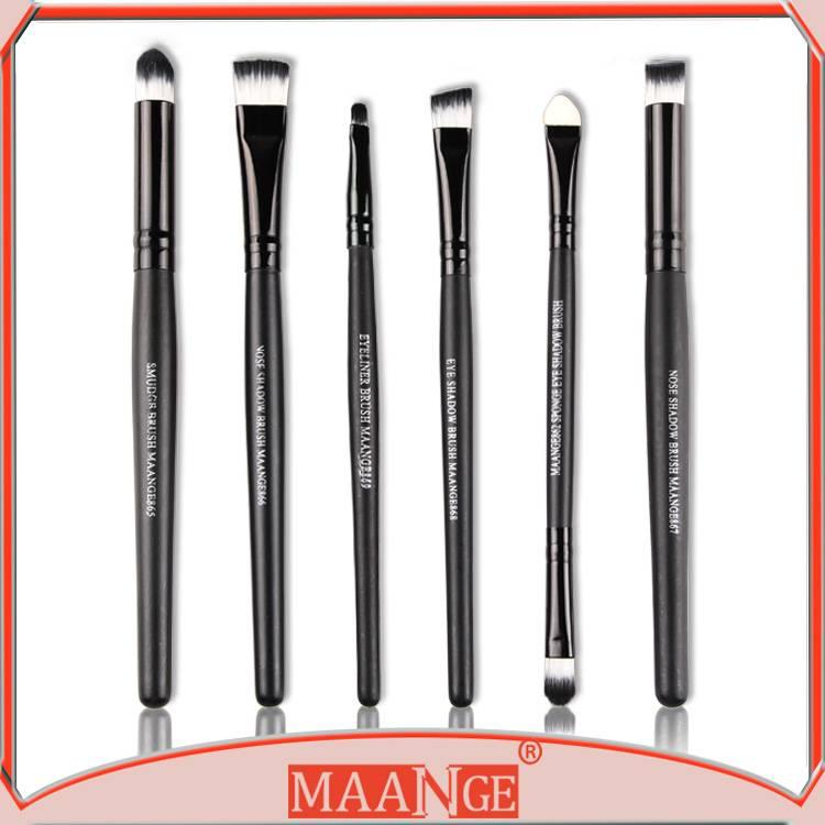 MAANGE High quality 6pcs makeup brush set eye brushes lip brushes