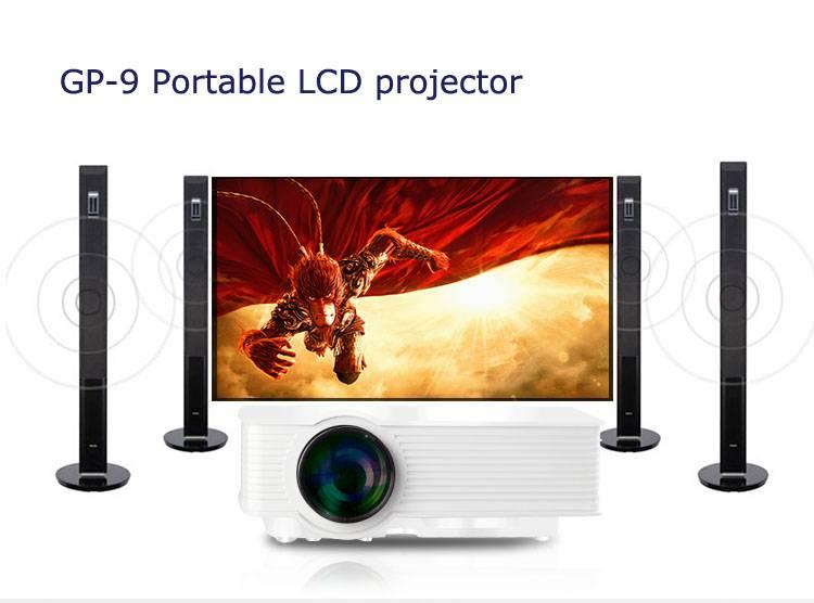 Mini LED Projector HDMI 1080P HD Portable LCD technology AV, USB, VGA, SD, support 3D movie