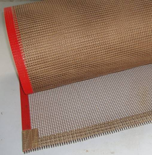 Air permeability and anti stick PTFE oven mesh belt