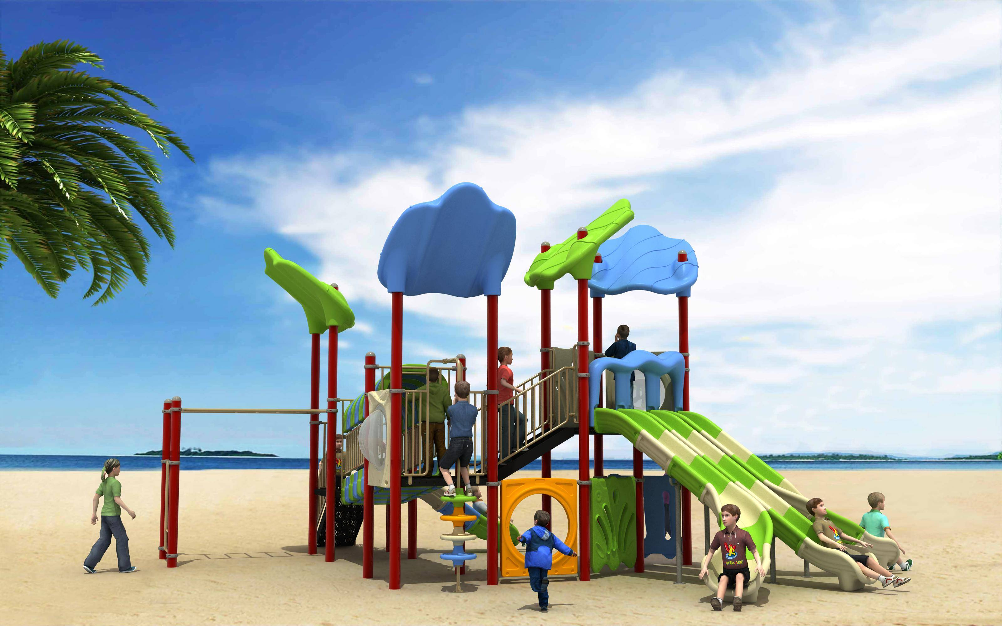 WD-FF103 Commercial Playground Equipment Outdoor Slide Windsurfing Series