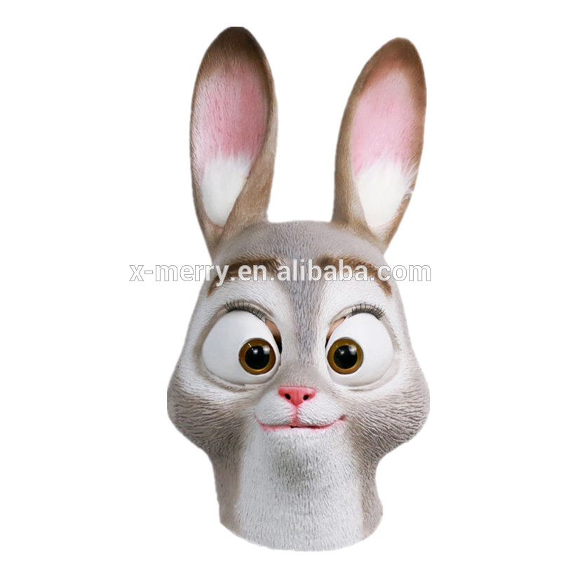 X-MERRY TOY Cosplay Latex Movie Zootopia Mask Judy Hopps Mask Judy Animal Halloween Costume x13055