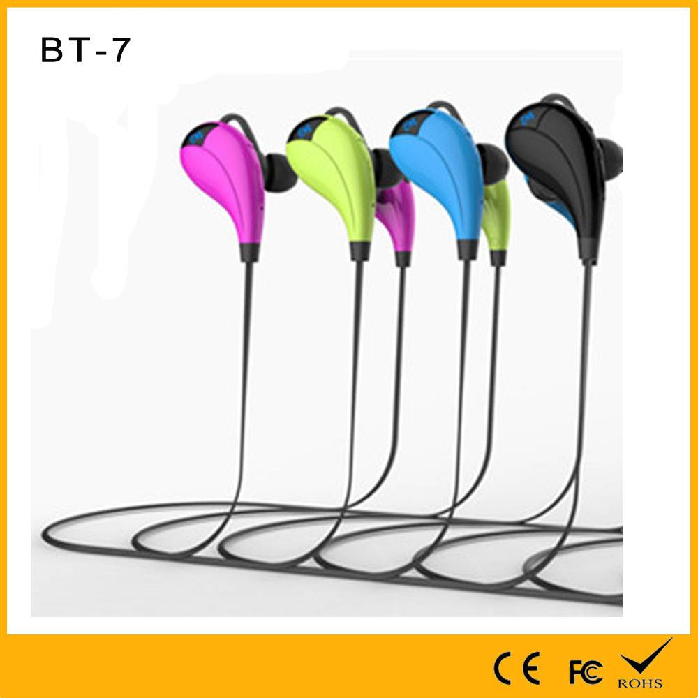 Golden Supplier for Wireless Bluetooth Military or Sport Waterproof headset with in-ear style led di