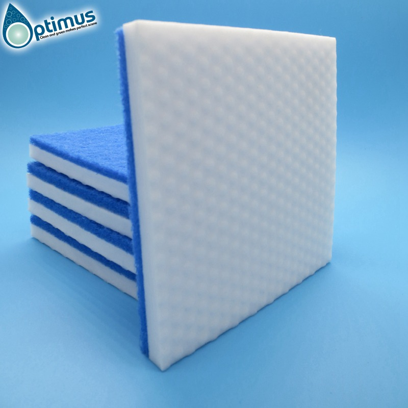 melamine microfiber cloth dot on surface blue scouring pads for household kitchen office cleaning