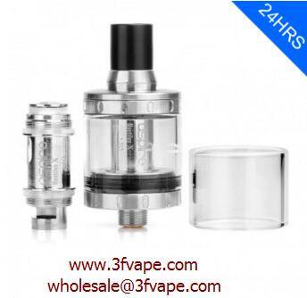 AUTHENTIC ASPIRE NAUTILUS X CLEAROMIZER - SILVER, STAINLESS STEEL, 2ML, 1.5 OHM, 22MM DIAMETER