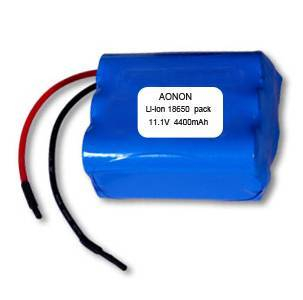 11.1V 4400mAh rechargeable 18650 battery pack