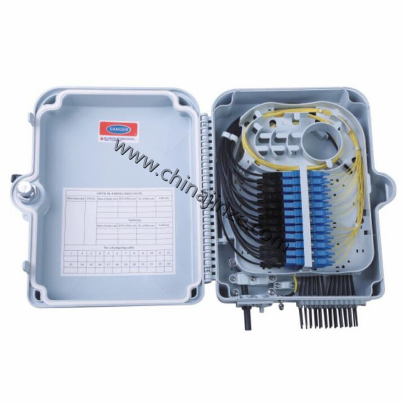 24 core ftth fiber optical termination box or with SC or LC pigtail