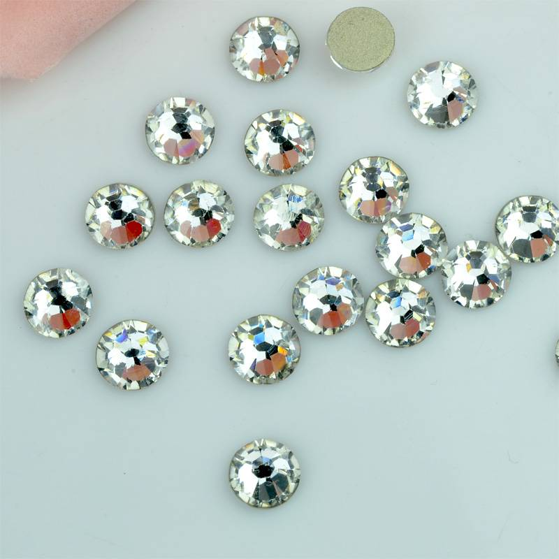 Factory direct sale non hot fix stones, Transparent color no hotfix crystals rhinestones for dance c