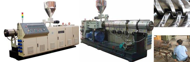 PVC double head pipe production line