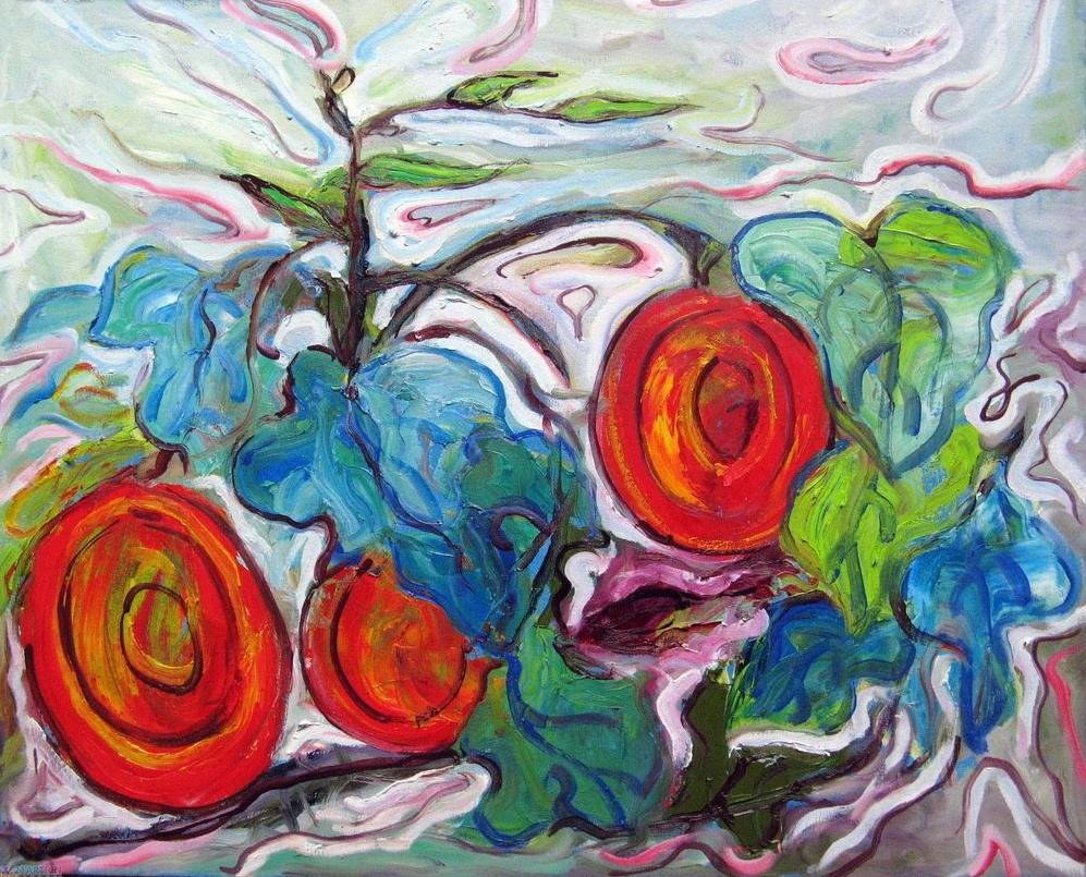 Abstract Floral Oil Painting Wall Art