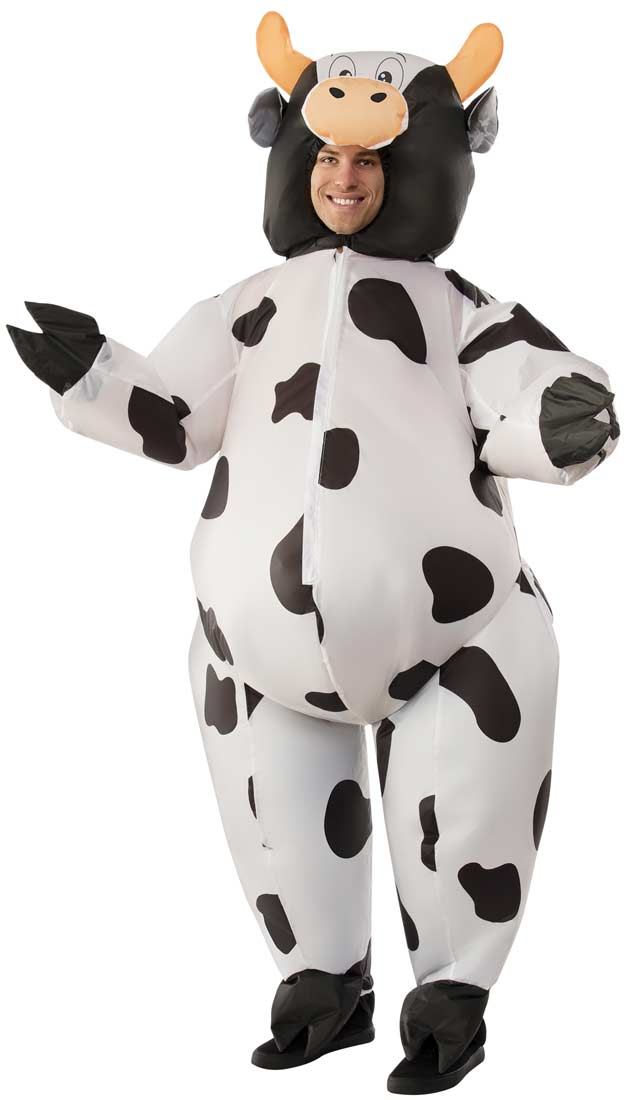 Fun inflatable cow costume