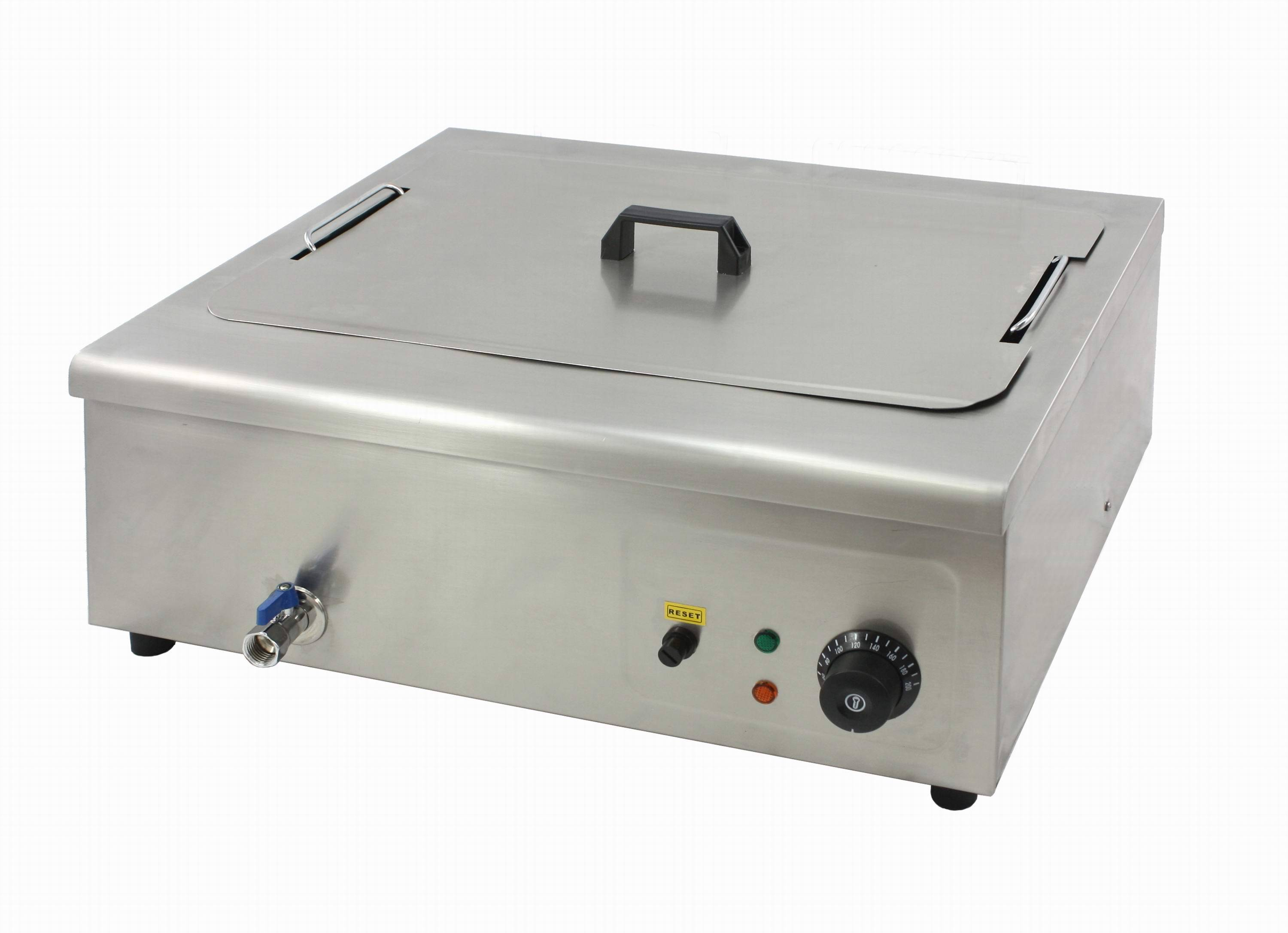 Flat Electric Deep Fryer(Temperature controller:60°C~200°C)