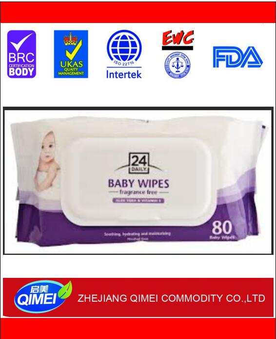 sanitary alcohol free competitive price 30pcs/bag wet wipes