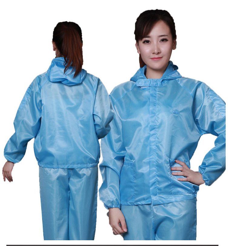 ESD Clean room Clothes Suit Antistatic Hood Clothes Suit ESD Garment