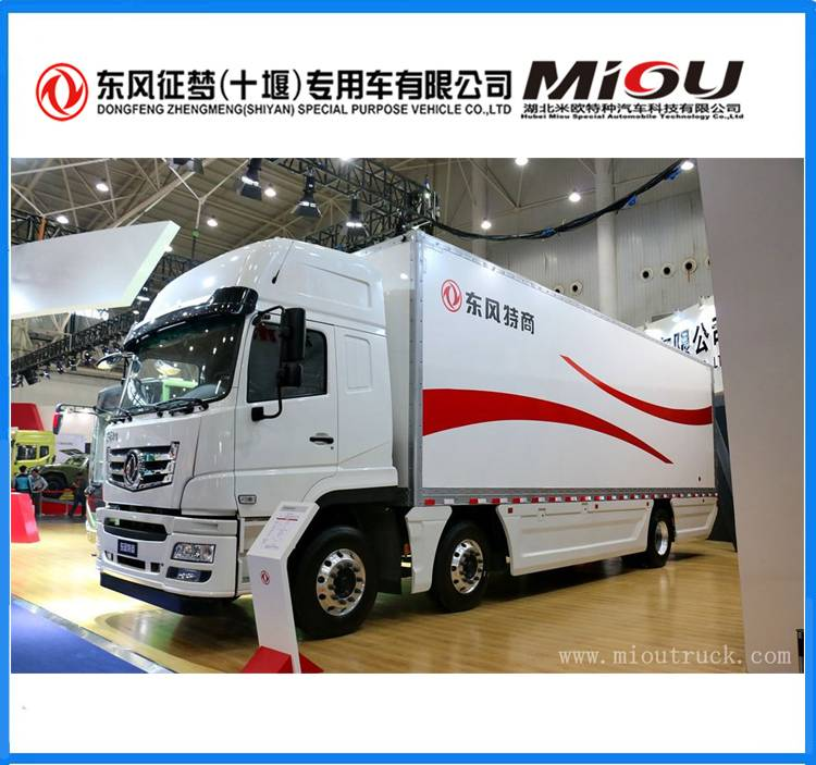 euro5 198kw van cargo truck Dongfeng factory price for sale