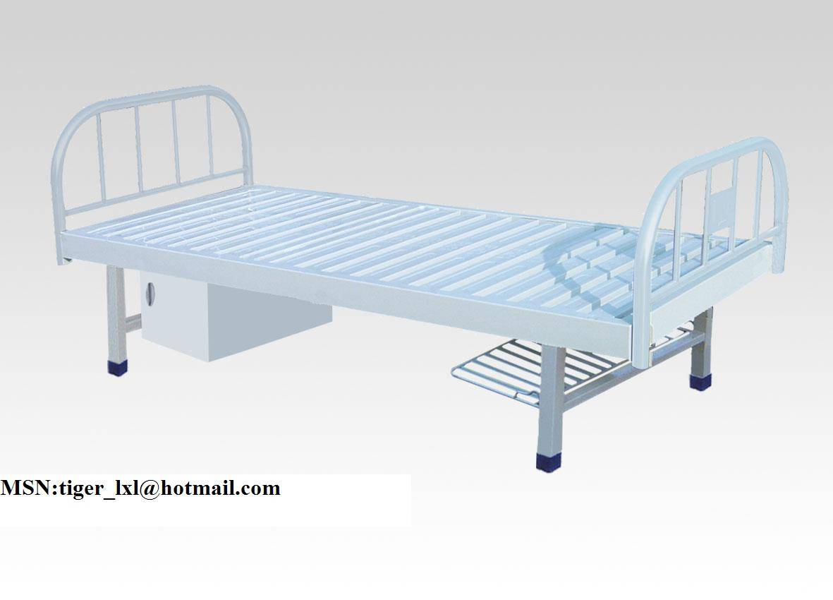 Plastic-sprayed flat medical bed A-57