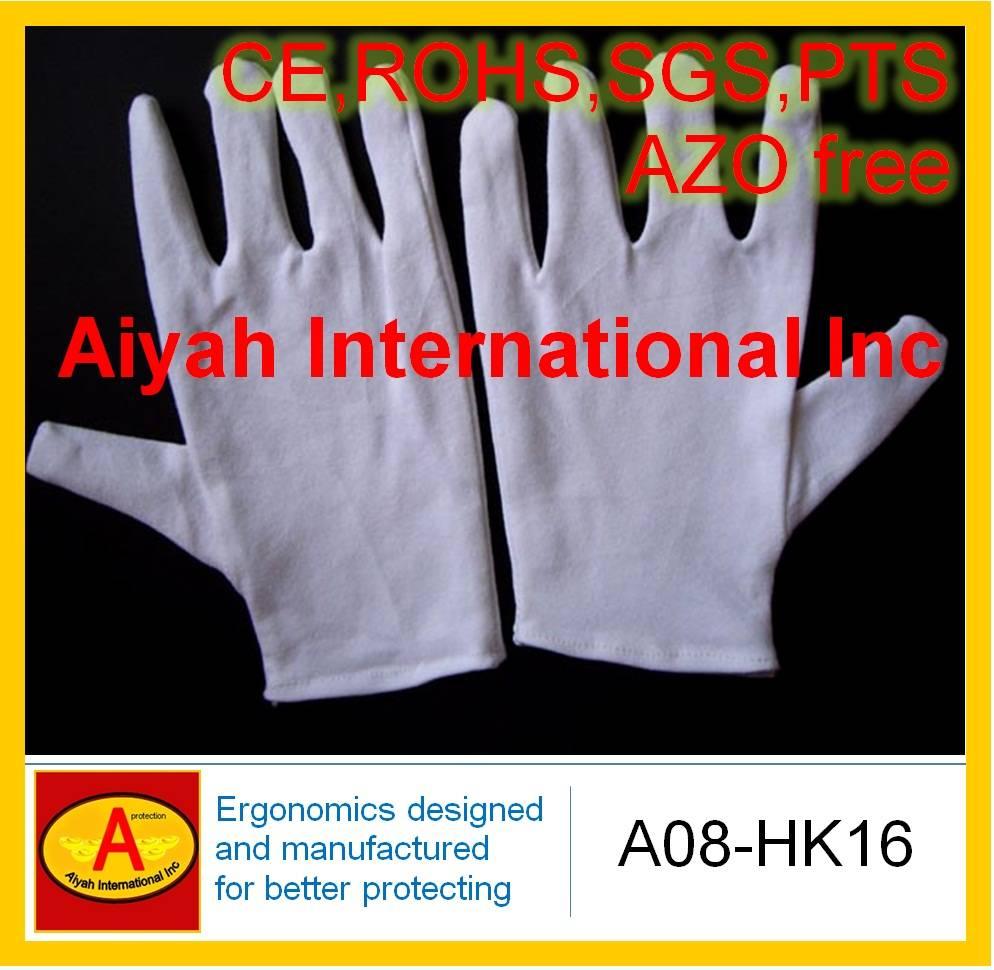 Economic Cotton Glove(CE, SGS, ROHS, AZO Free)(A08-HK16)