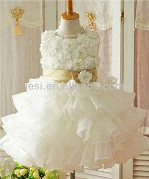 Fashion Flower Baby Girl Dress Wholesales