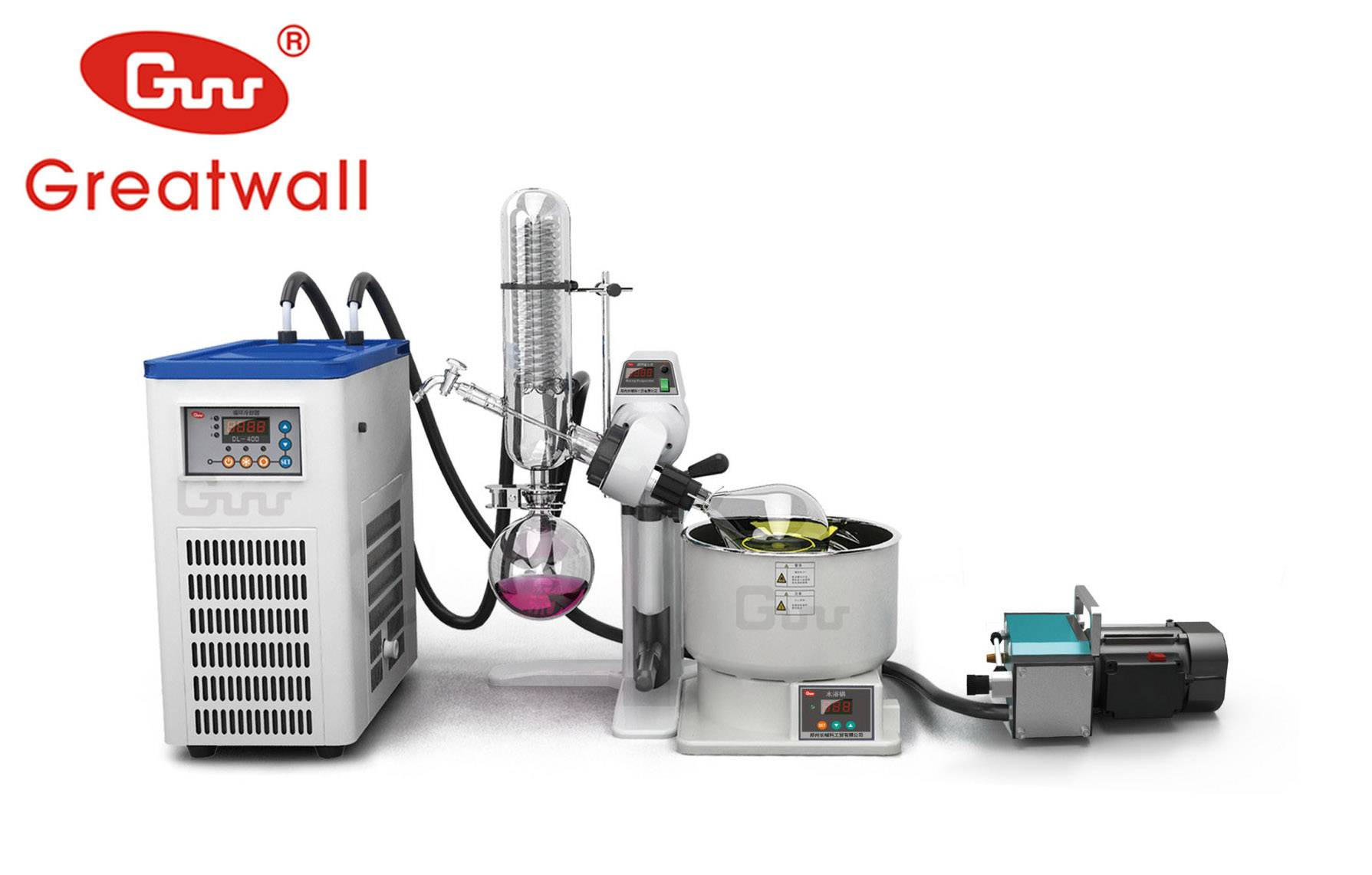 500ml ~2L Mini Lab Rotary Evaporator R-1001-VN with Recyclable Chiller