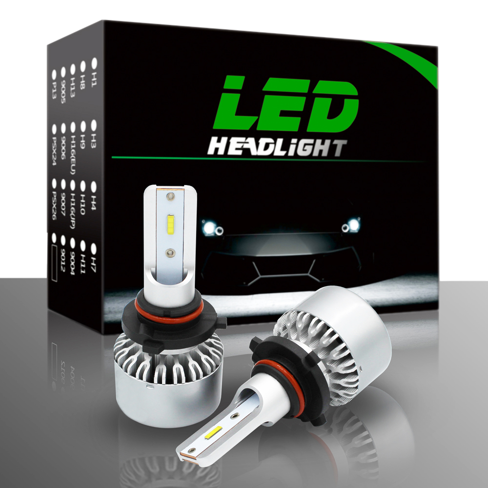 9006/HB4 LED Headlight Bulbs Conversion Kit, DOT Approved, SEALIGHT X1 Series 12xCSP Chips - 6000LM