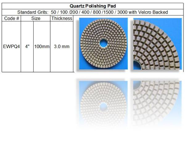 Quartz Polishing Pad ~ Standard 7 Steps