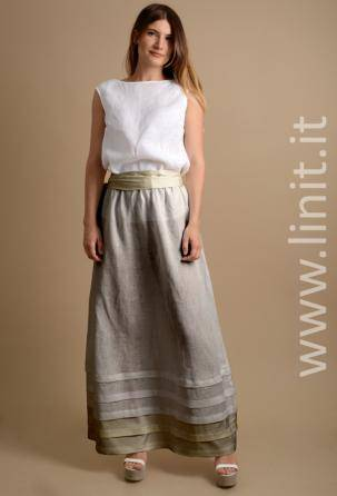 women skirts 100% linen. Designed and manufactured in Italy.