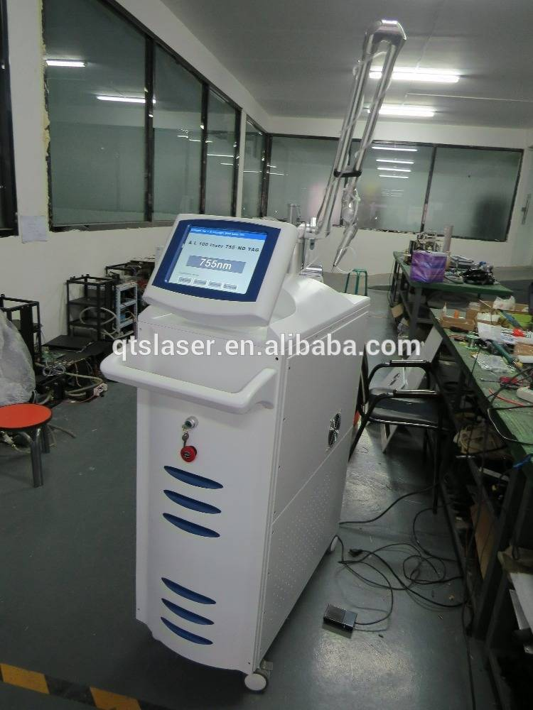 755nm Alexandrite laser + ND Yag to bring double effect hair and tattoo removal