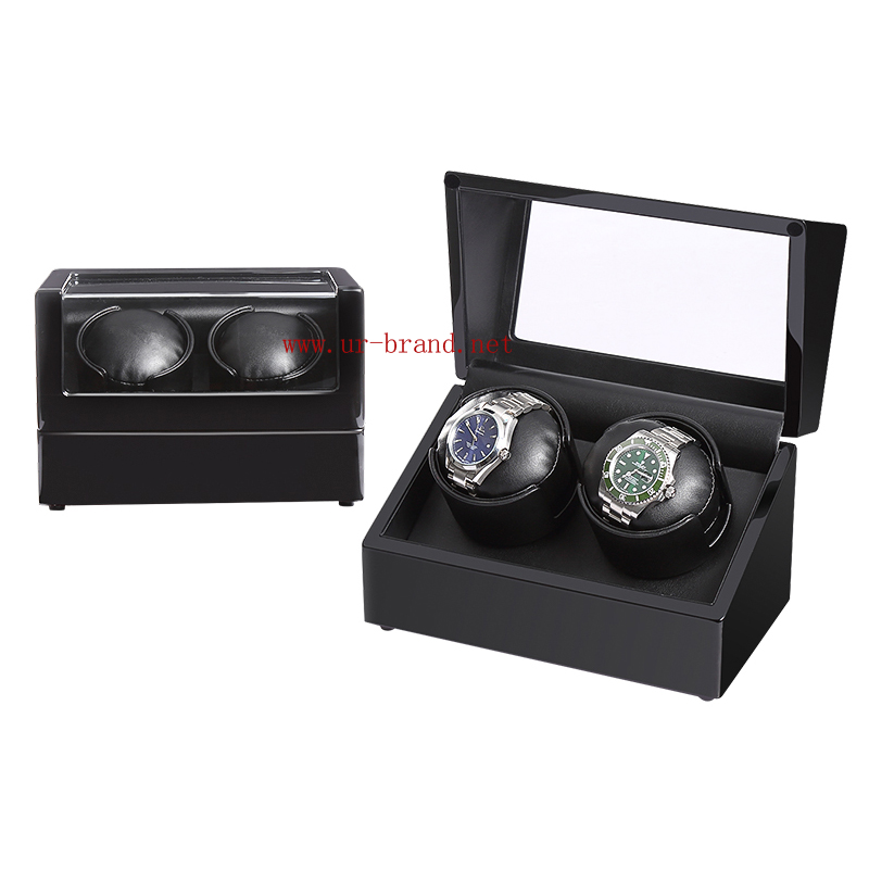 China wholesale merchandise double wooden watch winder boxes with custom logo.