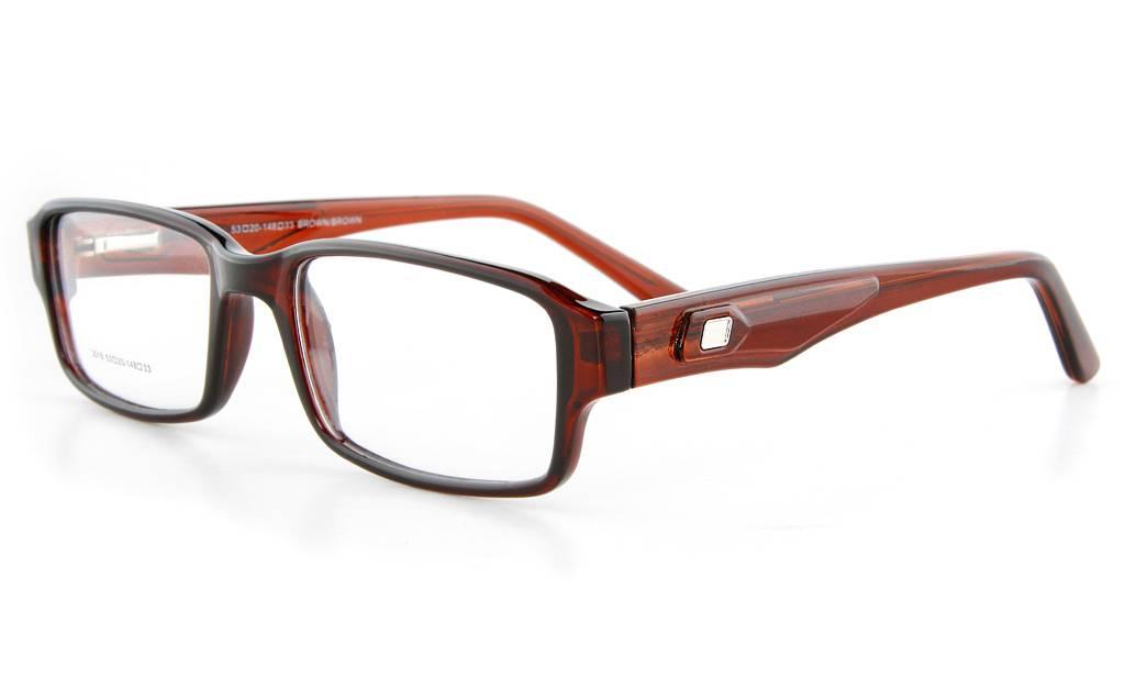 Brown LO3016 Full Rim Square Propionate Glasses