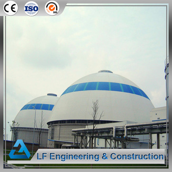 Dome coal power plant prefab shed steel space frame