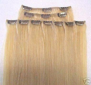 wholesale 100% virgin Brazilian human hair clip in hair extensions