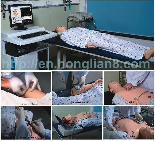(ACLS)COMPREHENSIVE EMERGENCY SKILLS TRAINING MANIKIN